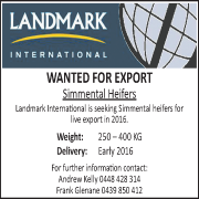 Landmark International Simmental Advert