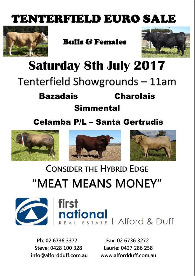 Tenterfield Euro Sale